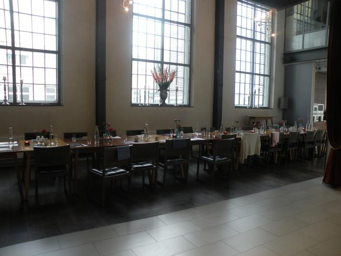 Vackert dukat bord på en av kurserna på Restaurangakademien.