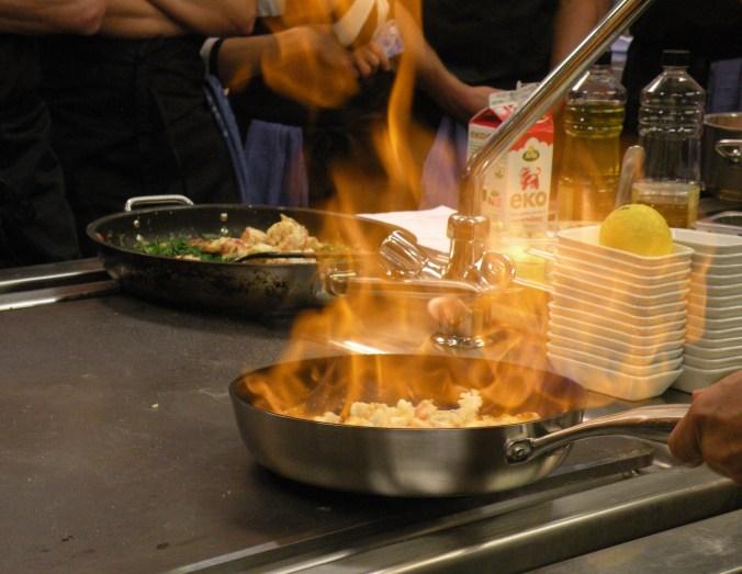 Flambering på Restaurangakademien