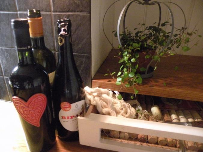 Vin och sparade korkar