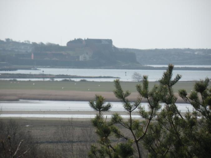 Varberg Fästning i soldis, sett från norr