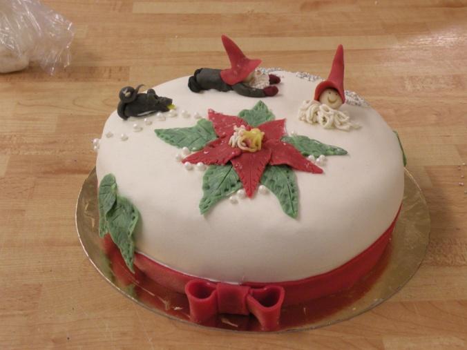 Egenhändigt dekorerad jultårta :)