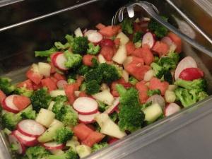 Rädisa, vattenmelon, galiamelon och broccoli