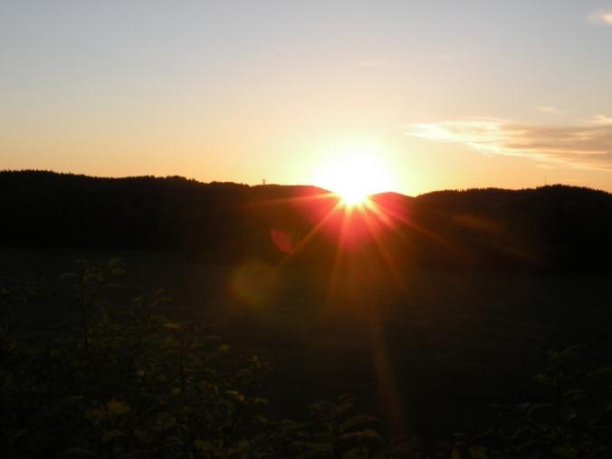 Hjärtlig solnedgång!