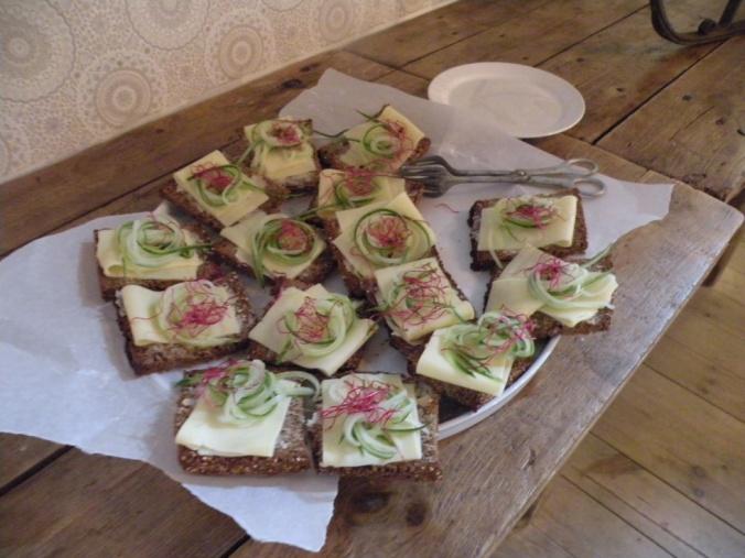 Goda och vackra  smörgåsar