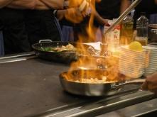 Eldigt värre i köket i Restaurangakademiens kök