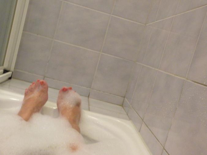 Ett varmt, skummigt bad innan man kryper till kojs. Det är grejer det!