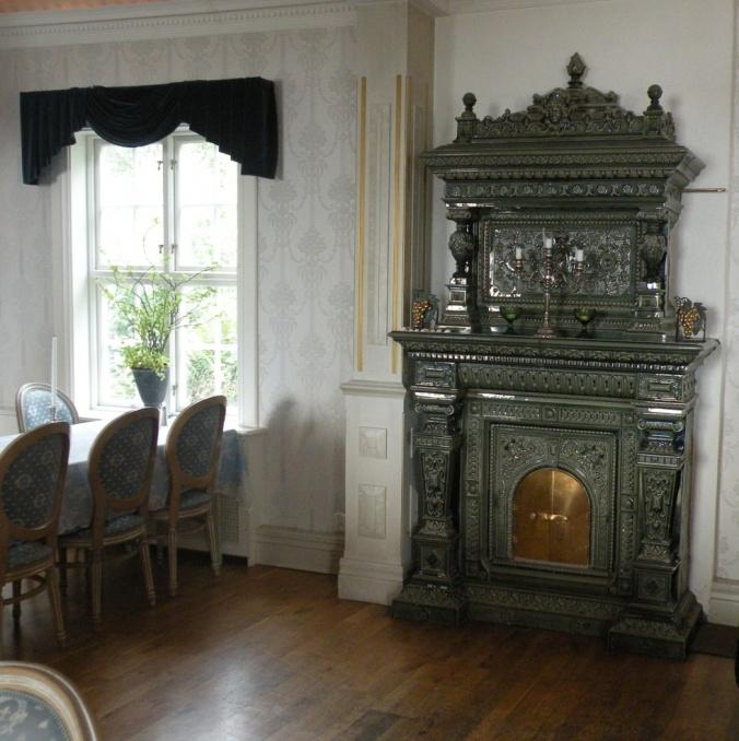 Vacker interiör i Onsala Herrgård