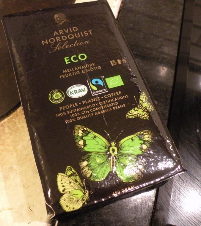 Rättvisemärkt och ekologiskt kaffe från Arvid Nordström