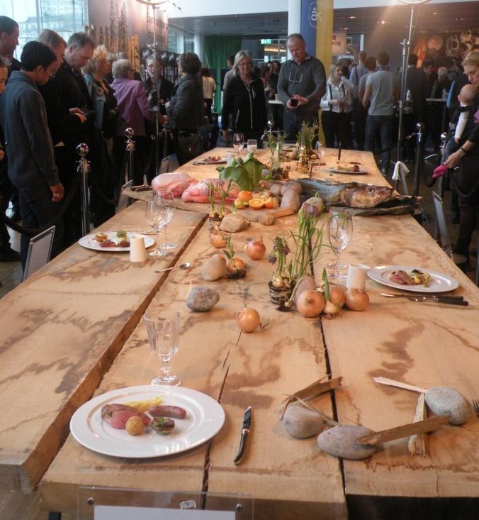 Vacker bord där alla tävlingsrätter visades på Waterfront i februari i år