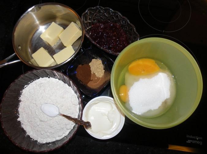 Ingredienser till mjuk pepparkaka