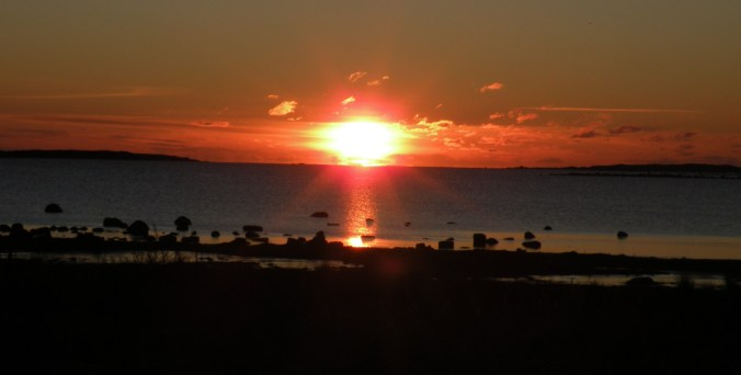 Julig solnedgång