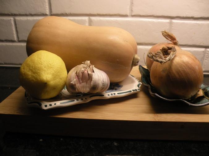 Några ingredienser till soppan
