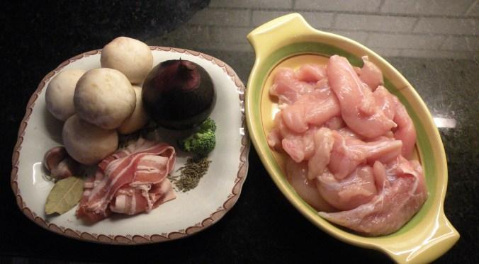 Ingredienser till kycklinggrytan