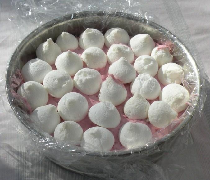 Maränger på rosa fluff