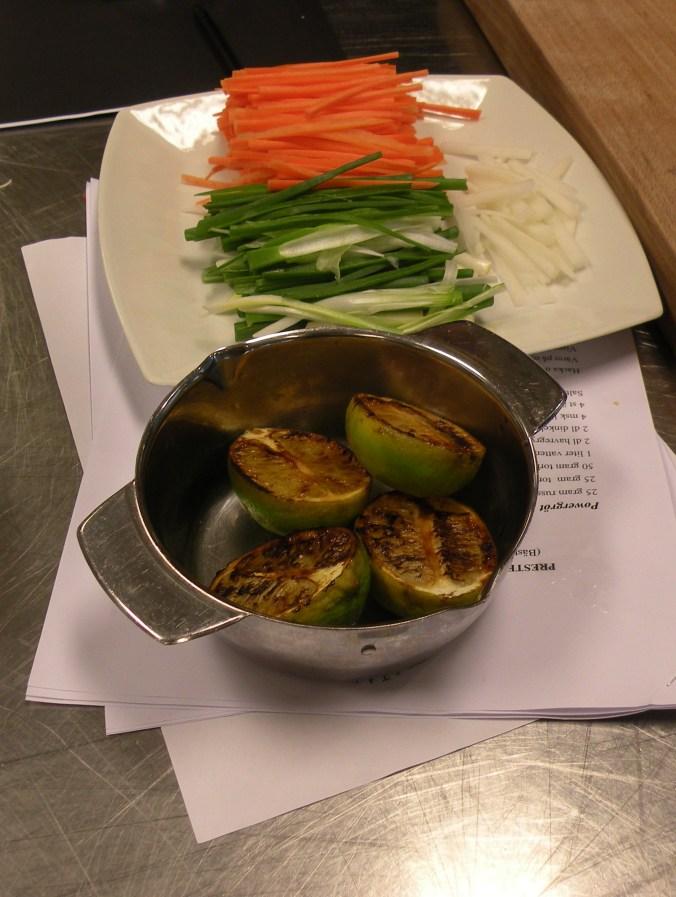 Ingredienser till färska vårrullar