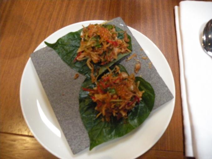 Cha Plu-blad med räkor