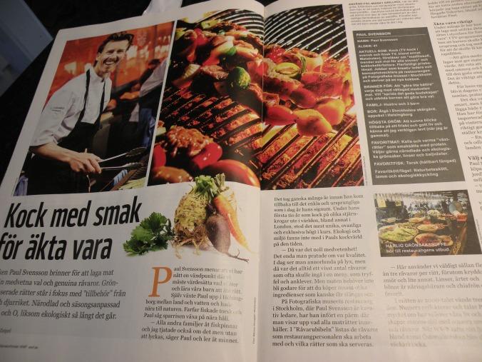Reportaget om Paul Svensson och Fotografiska's restaurang.