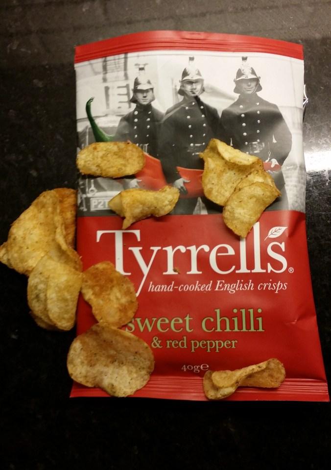 Roliga, snygga och goda chips från England.