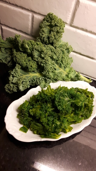 Naturell vs förvälld grönkål